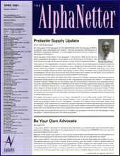 April 2001 Newsletter